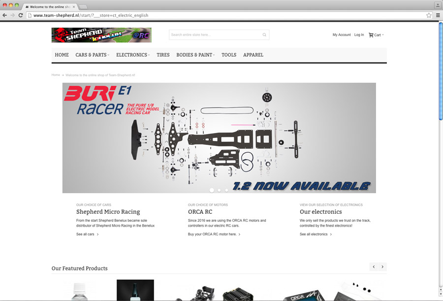 New online shop for Team-Shepherd.nl