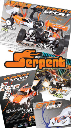 Motorsport-Media-Design.com did a lot of print advertisements for Serpent