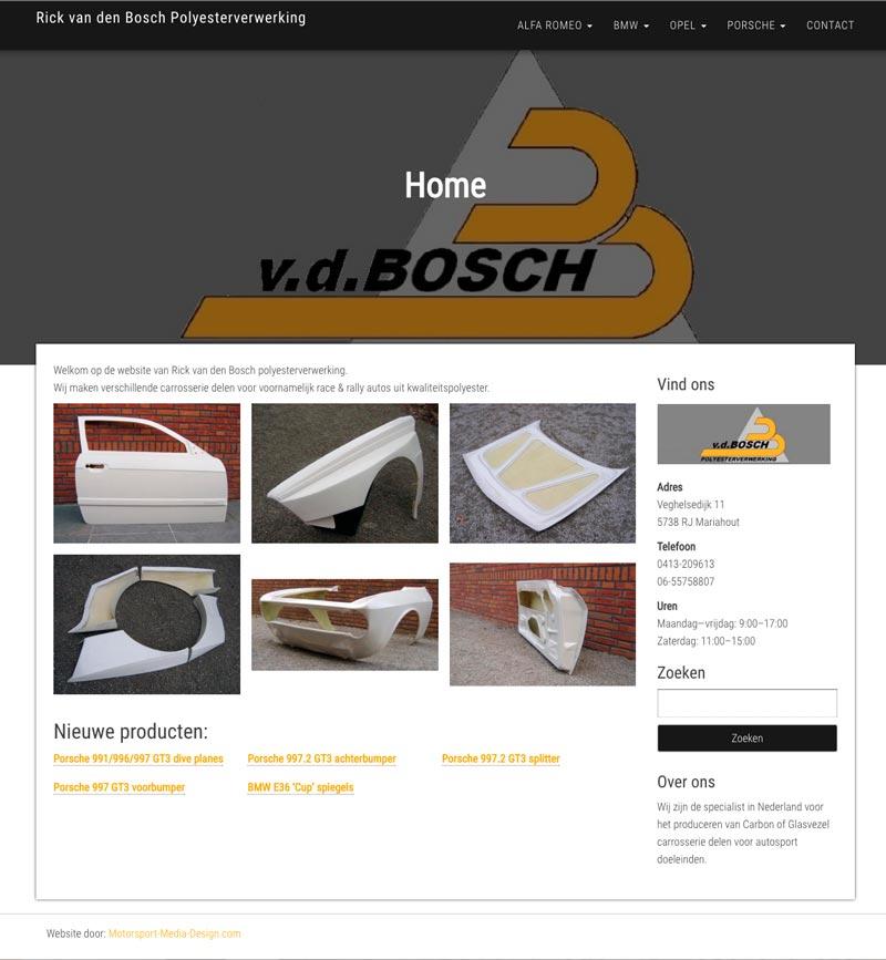 screenshot homepage Rick van den Bosch Polyester